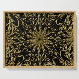 Black Gold Glam Nature Serving Tray