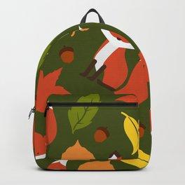 Fox Jumble - Green Backpack