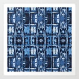 Cyanotype Tokyo Pipes  Art Print