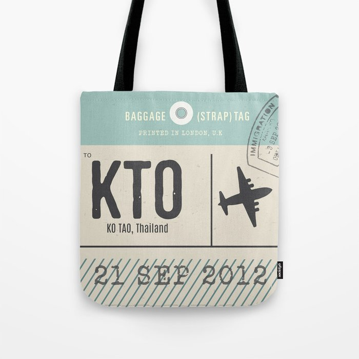 Travel Tag Tote Bag
