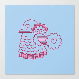 To/From Philly With Love Canvas Print