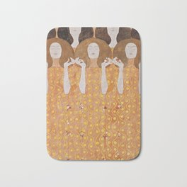 Beethoven Frieze by Gustav Klimt Bath Mat