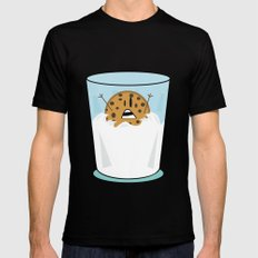 The problems of being a cookie in a milk glass Mens Fitted Tee Black MEDIUM