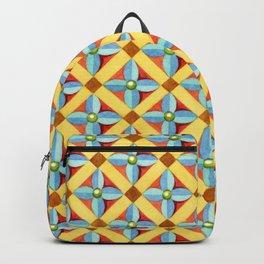 Heraldic Quatrefoil Lozenge Backpack