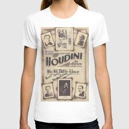 Houdini, vintage poster, original T-shirt