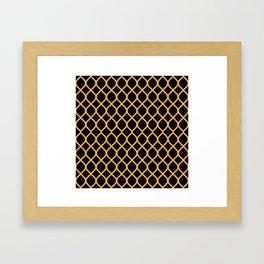 The Black and Orange Curve Framed Art Print