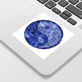 Blue Yin & Yang Mandala Sticker