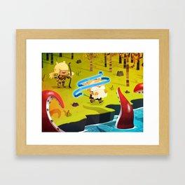 Flèche Aveuglante Framed Art Print
