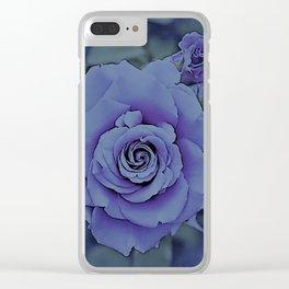 Lavender Rose Clear iPhone Case