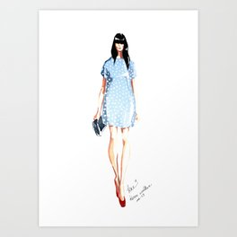 Karen Walker SS 13 Fashion Illustration Art Print