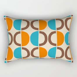 Mid Century Modern Half Circle Pattern 562 Rectangular Pillow