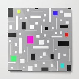 Retro tv abstract Geometric Pattern design Metal Print