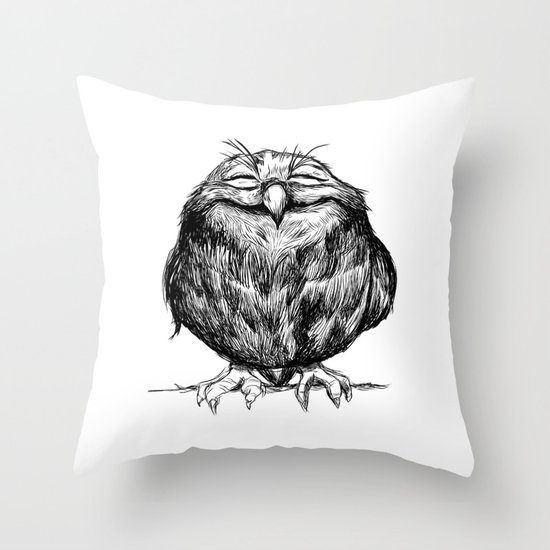 Owl Ball Throw Pillow