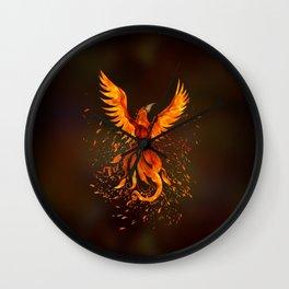 Rising Phoenix Bird  Wall Clock
