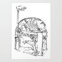 boba Art Prints featuring Boba by Max McMax