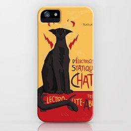 d'Electricité Statique Chat [Staticat] iPhone Case