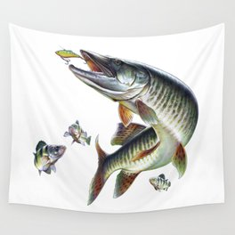Musky Fishing Wall Tapestry