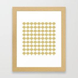 Fan Pattern 321 Gold Framed Art Print