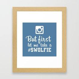 #swolfie Framed Art Print