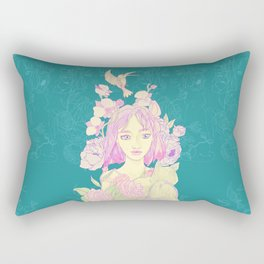 blue nature Rectangular Pillow