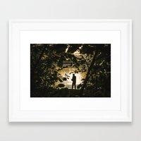 fishing Framed Art Prints featuring Fishing by Svetlana Korneliuk