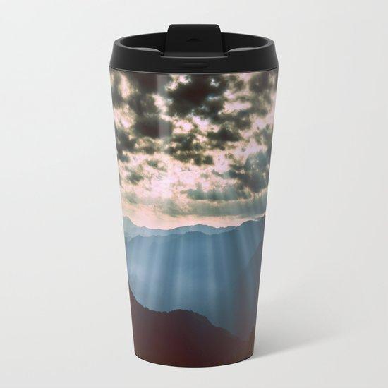 mountainS Dark Sunset Metal Travel Mug