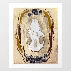 Cycle (Hedgehogs & Flowers) Art Print