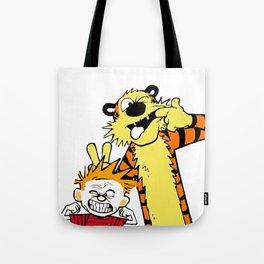 Calvin And Hobbes Tote Bag