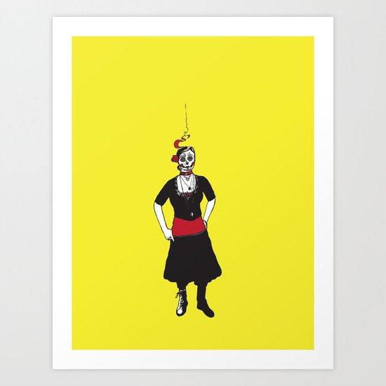 Angry Liz Art Print