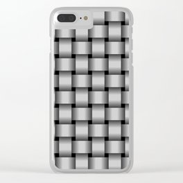 Light Gray Weave Clear iPhone Case