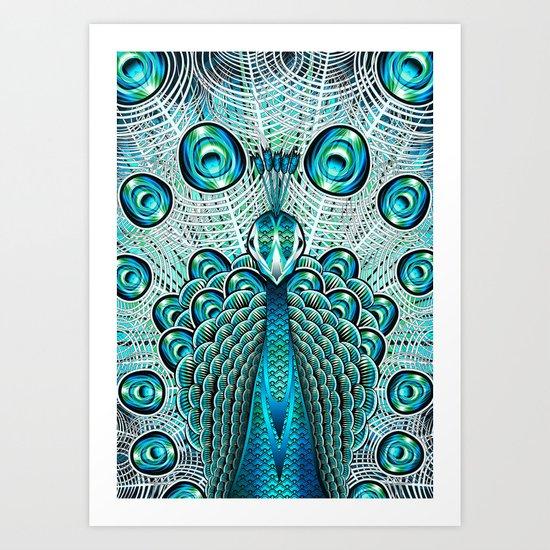 A Peacock Art Print