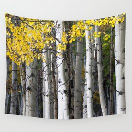 Yellow, Black, and White // Aspen Trees in Crested Butte Wall Tapestry