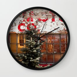 red+white Wall Clock