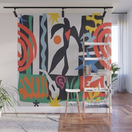 inspired to Matisse (black) Wall Mural