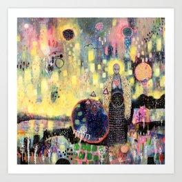 Huginn & Muninn (Thought & Memory) Art Print