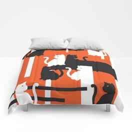 Cat in De Stijl - Halloween Edition Comforters