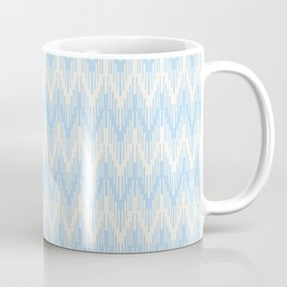 Baby Blue Off-White Chevron Ripple Pattern 2021 Color of the Year Wild Blue Yonder Swiss Coffee Coffee Mug