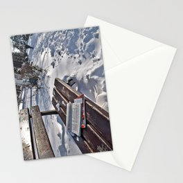 Winter in park Stationery Cards