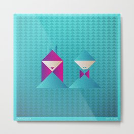 Music in Monogeometry : She & Him Metal Print