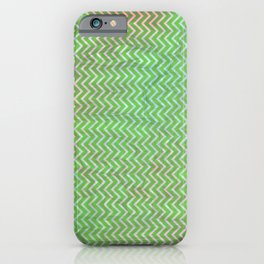 Green Flash chevron with texture iPhone Case