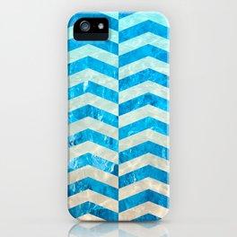 Aquatic Gradient -Wide Cevrons iPhone Case
