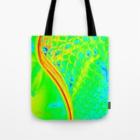 lacrosse Tote Bags featuring LACROSSE by TMCdesigns