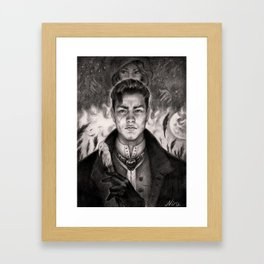kaz  and Inej Framed Art Print