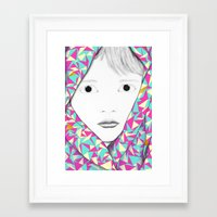 blanket Framed Art Prints featuring Blanket by Denise Colgan