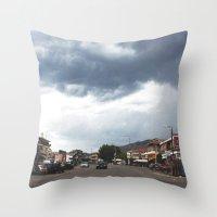 greece Throw Pillows featuring Greece by Pauline Gauer