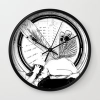 apollonia Wall Clocks featuring asc 451 - L'amante avide (Hungry mistress) by From Apollonia with Love