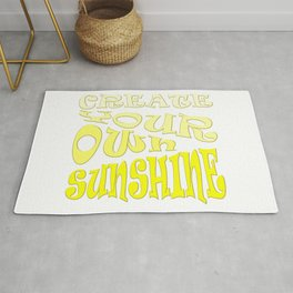 Create Your Own Sunshine Inspirational Quote Rug