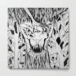 monster forest illustration devil Metal Print