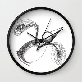 Flying Metaphysical Penguin Wall Clock