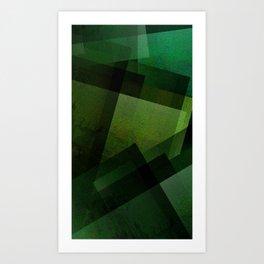 Charming Chartreuse Green - Digital Geometric Texture Art Print